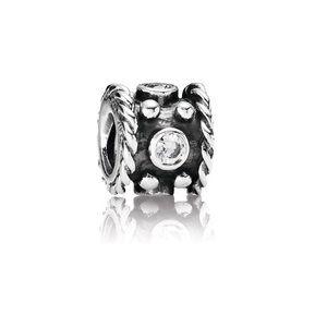 Pandora Retired Oxy Crown Cubic Zirconia Charm